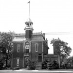 Weston Town Hall, the original location of the WPL, ca 1885