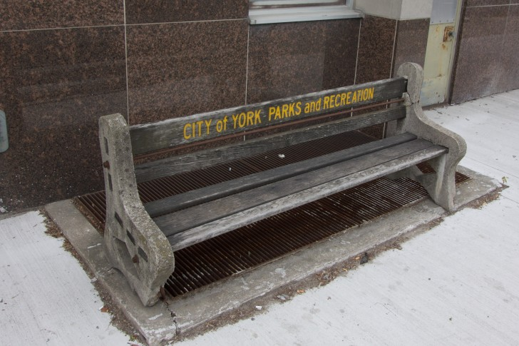 This bench is an artifact from the old City of York and belongs in a museum.