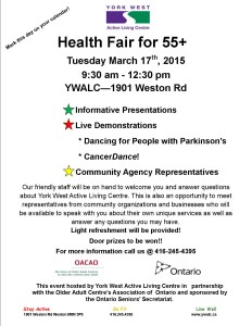 health fair flyer 2015