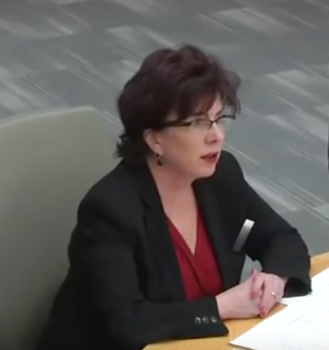 UPX President Kathy Haley (screenshot from February 23rd Board Meeting )