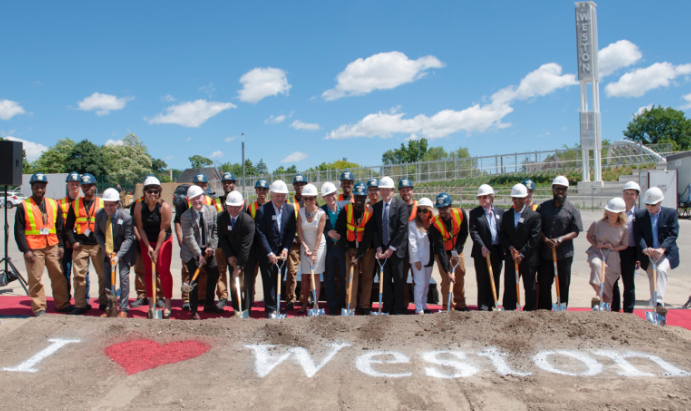 Image from Artscape https://artscapeweston.ca/2016/07/07/official-groundbreaking/