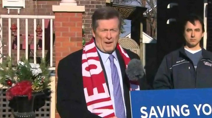 Mayor John Tory and homeowner Dave Bennett. From CP24.